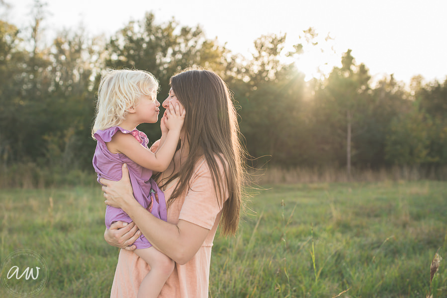Tampa Family Photography in open field