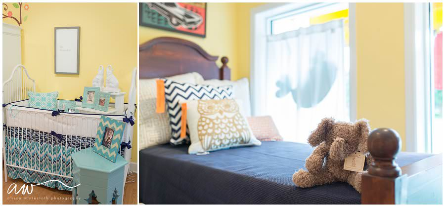 Custom bedroom decor and stuffed animals at Tampa Baby Boutique.