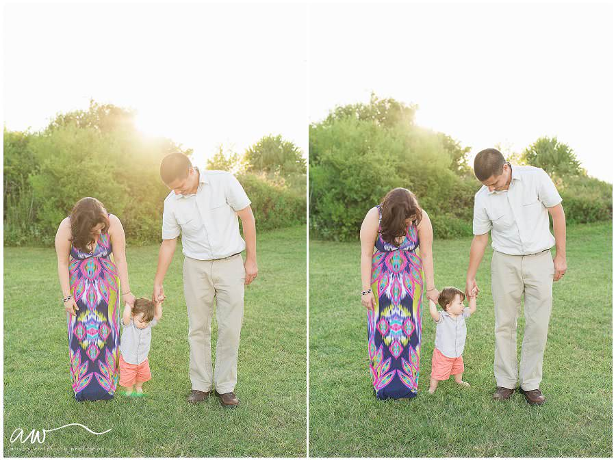One year old family session in Tampa Florida