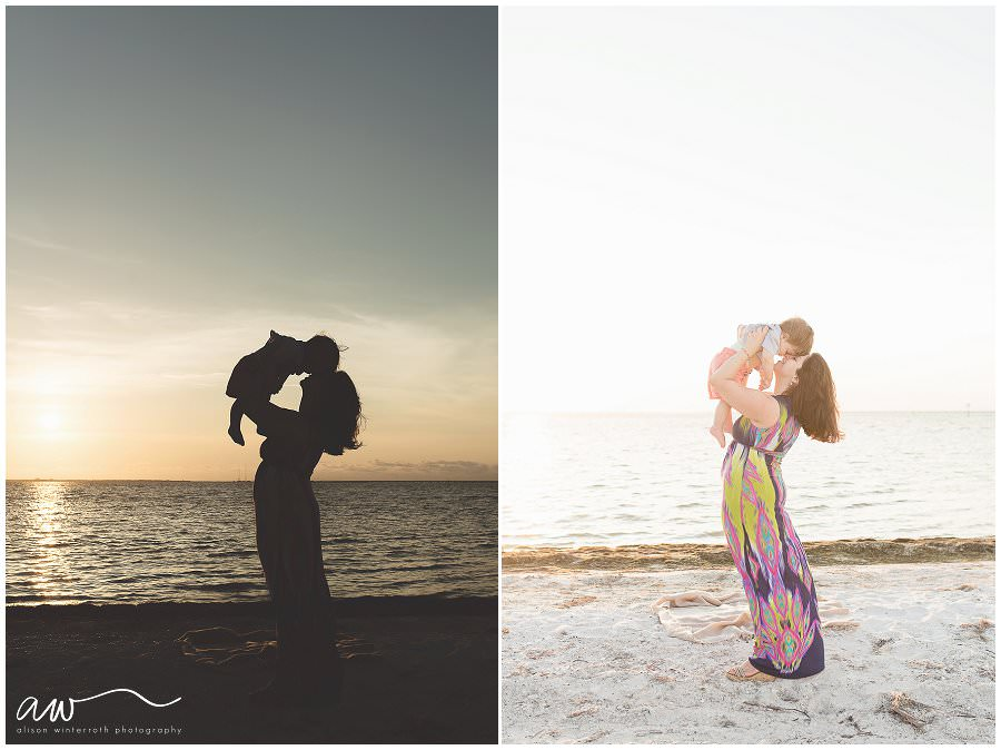 Tampa Bay photographer Alison Winterroth photographs a family in Ft Desoto Beach
