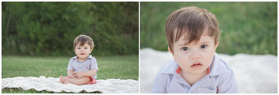 1 year pictures of a little boy at picnic island in Tampa Bay.