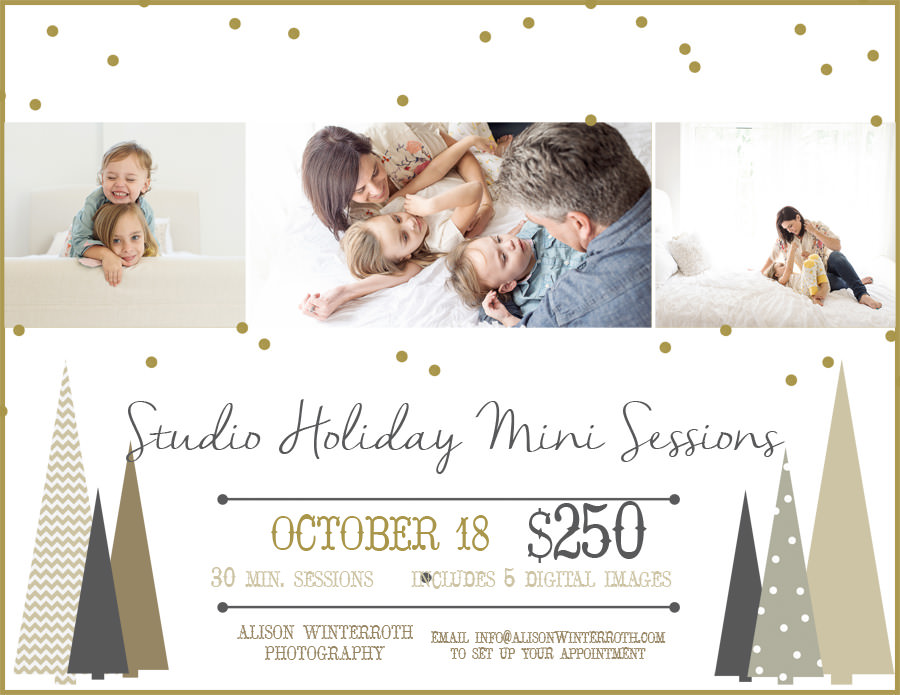 Tampa Florida Mini session for christmas pictures