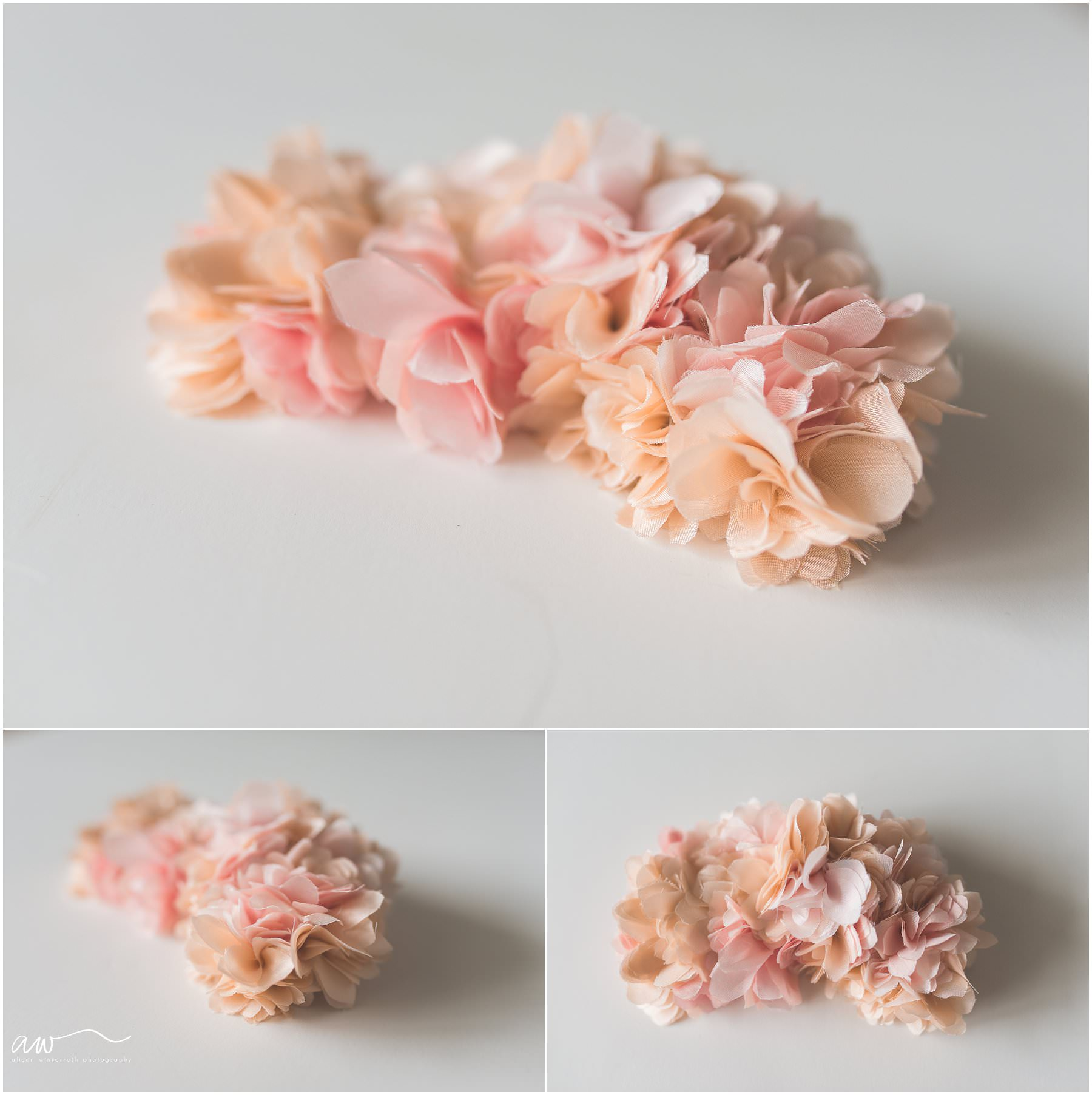 romantic hair clip for a maternity session in Tampa Fl with Alison Winterroth Photography