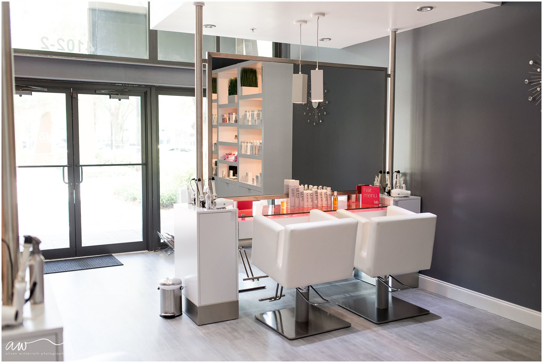 hairdresser areas at Blo Tampa