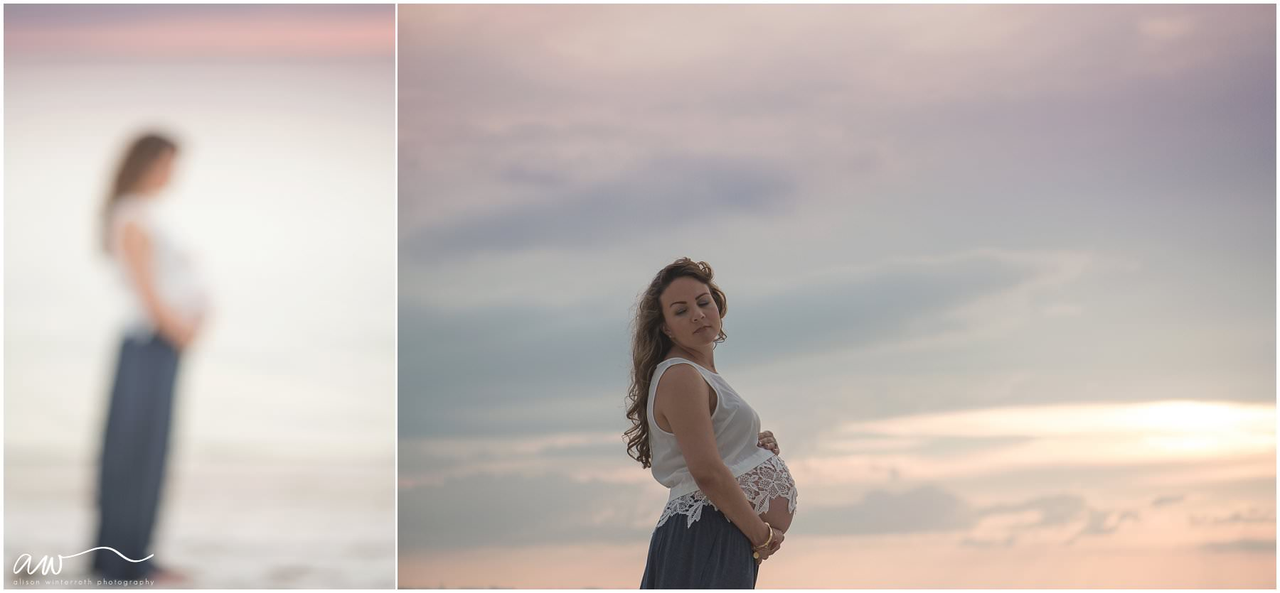 Sunset baby photography