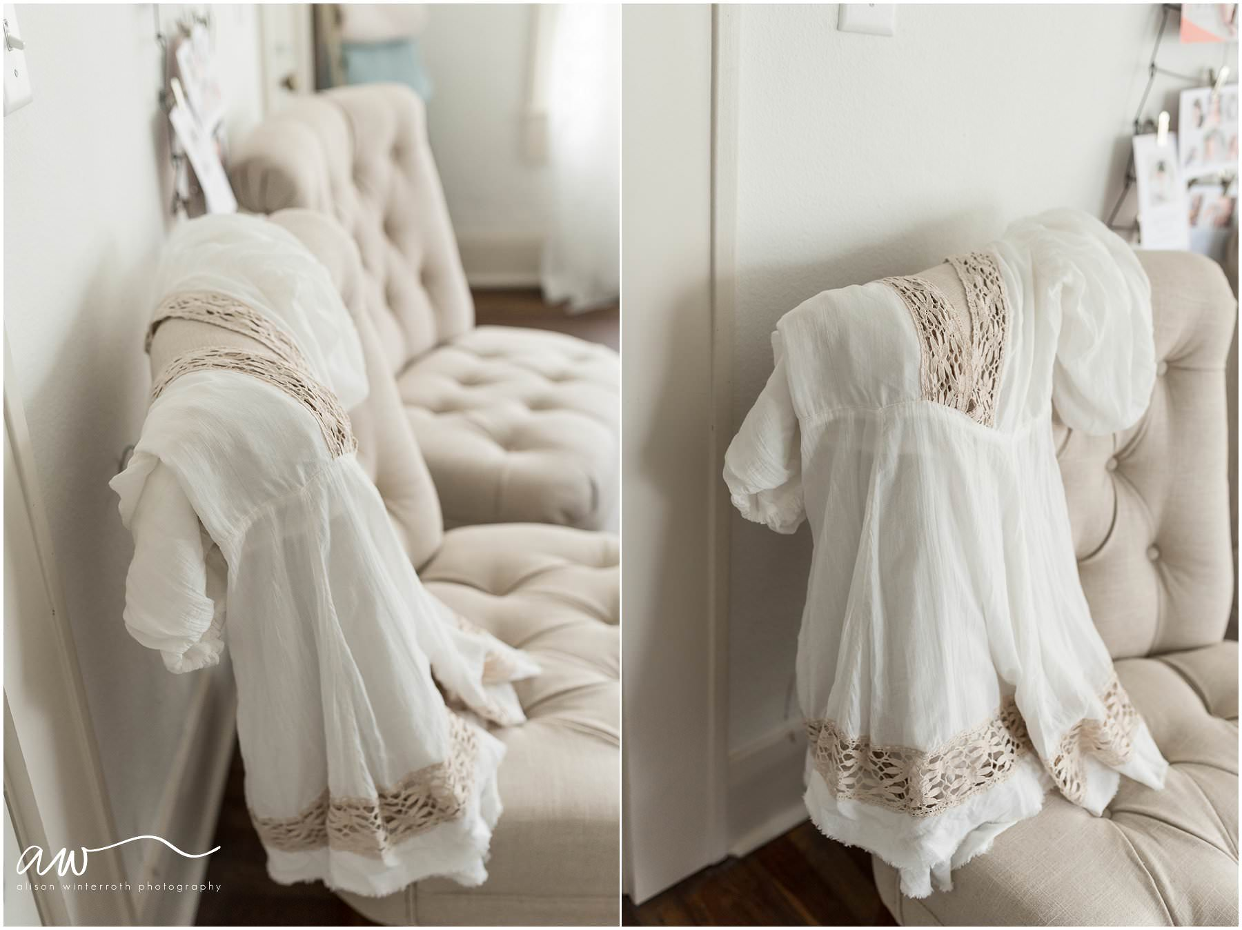 clothing used for sessions in a maternity session