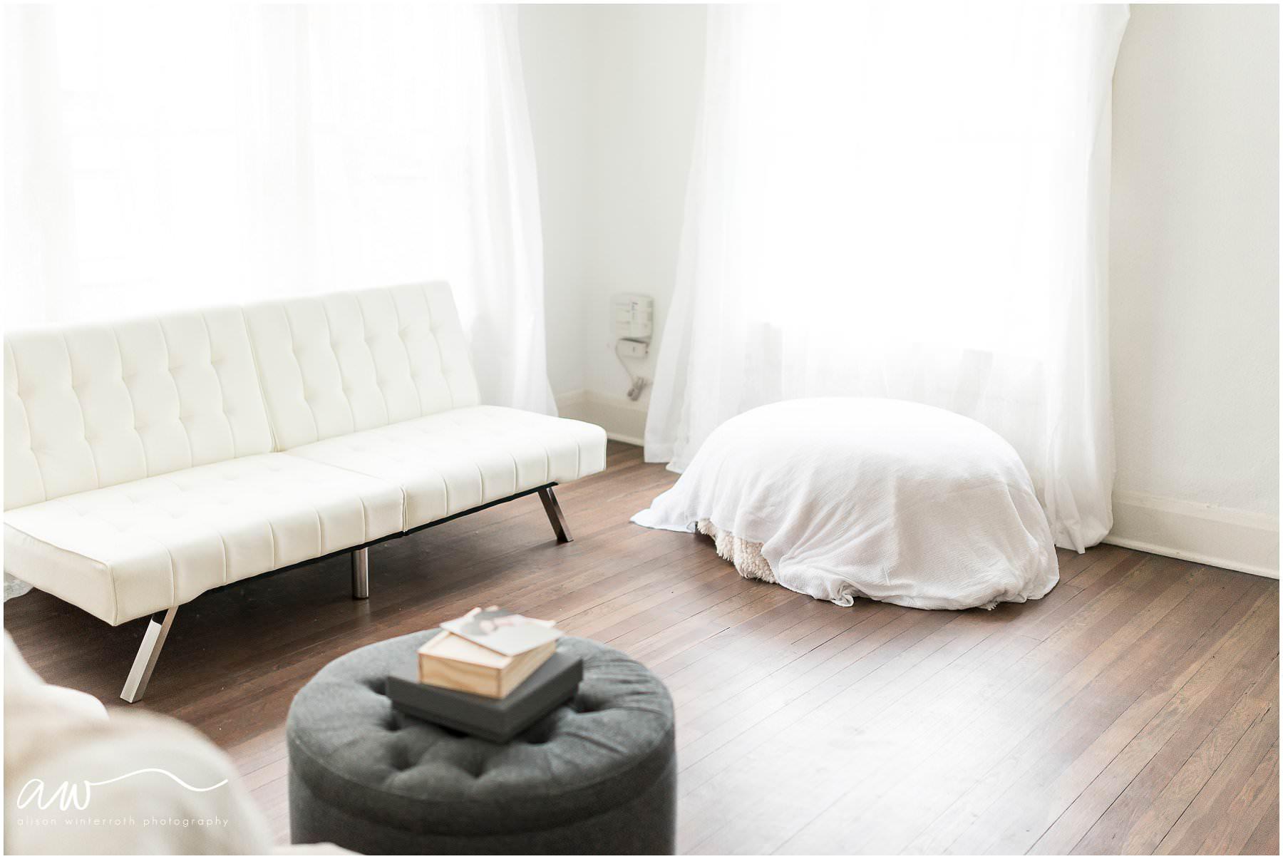 wide photograph of Alison Winterroth Photography's studio