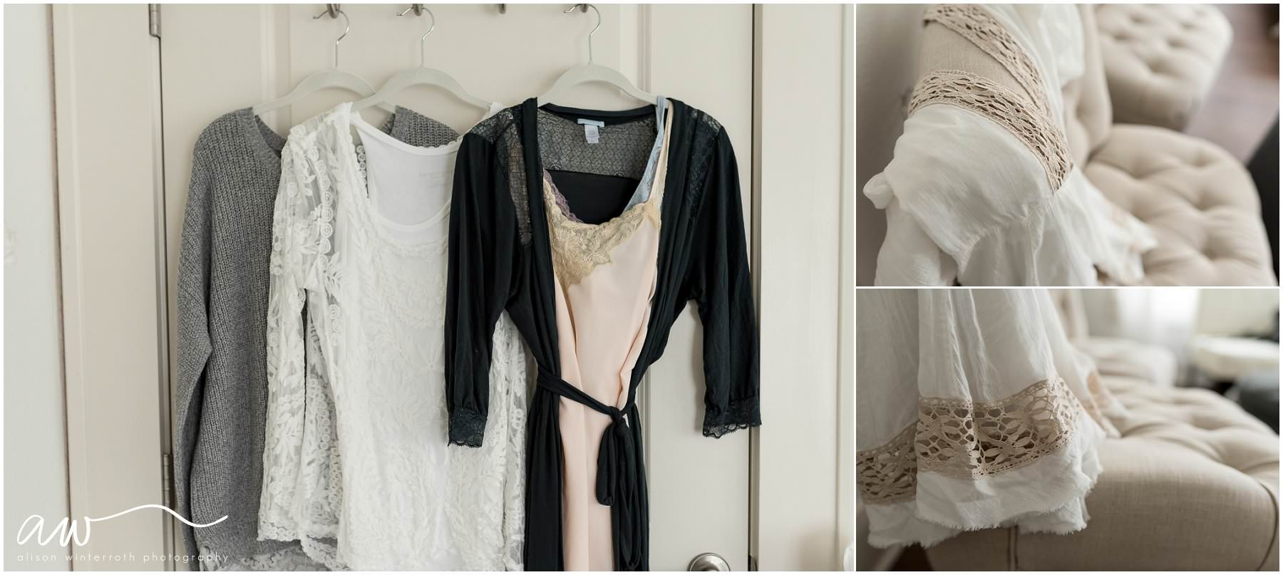 Tampa boudoir maternity clothing used in session