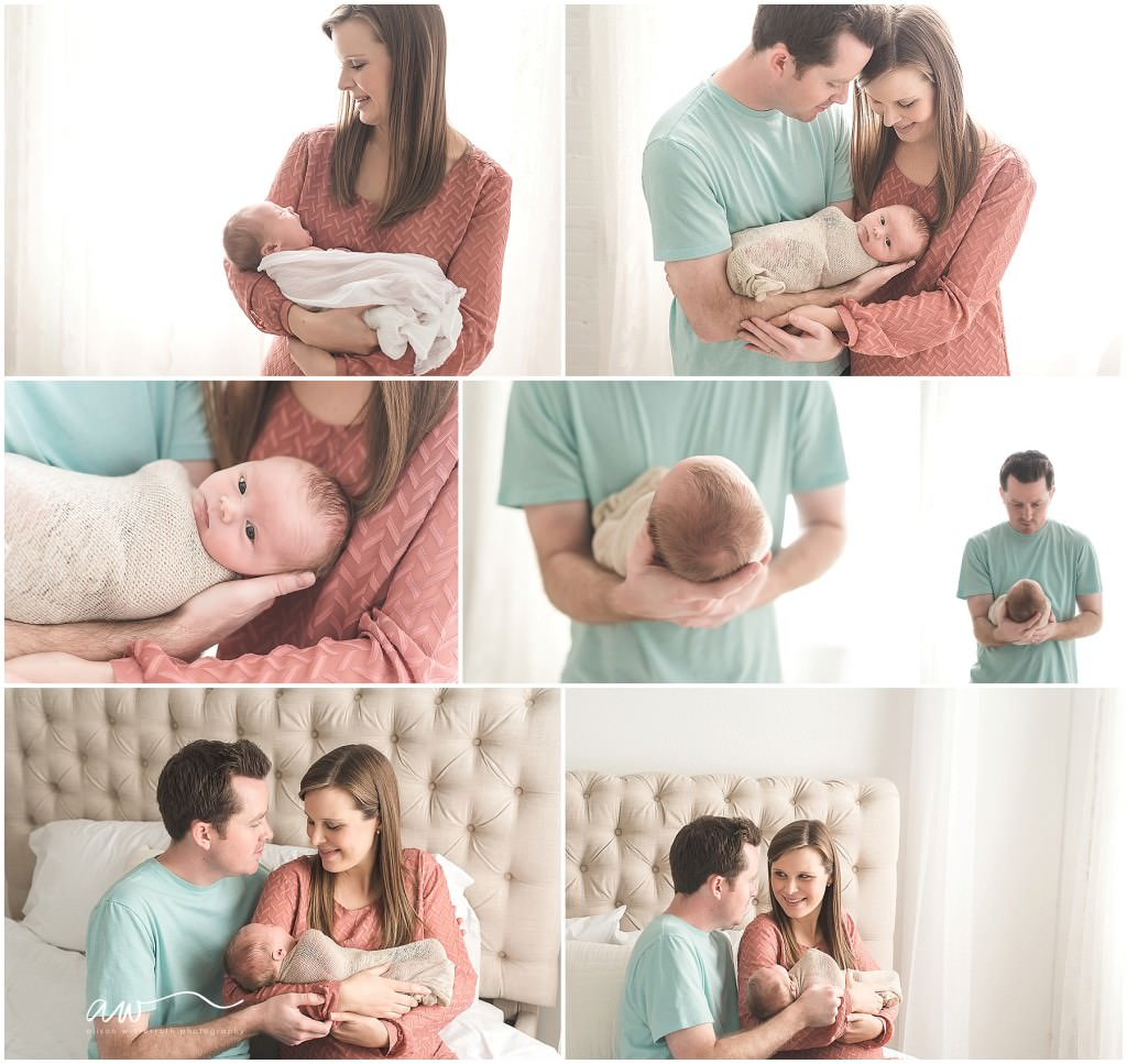 parents holding baby at a newborn session