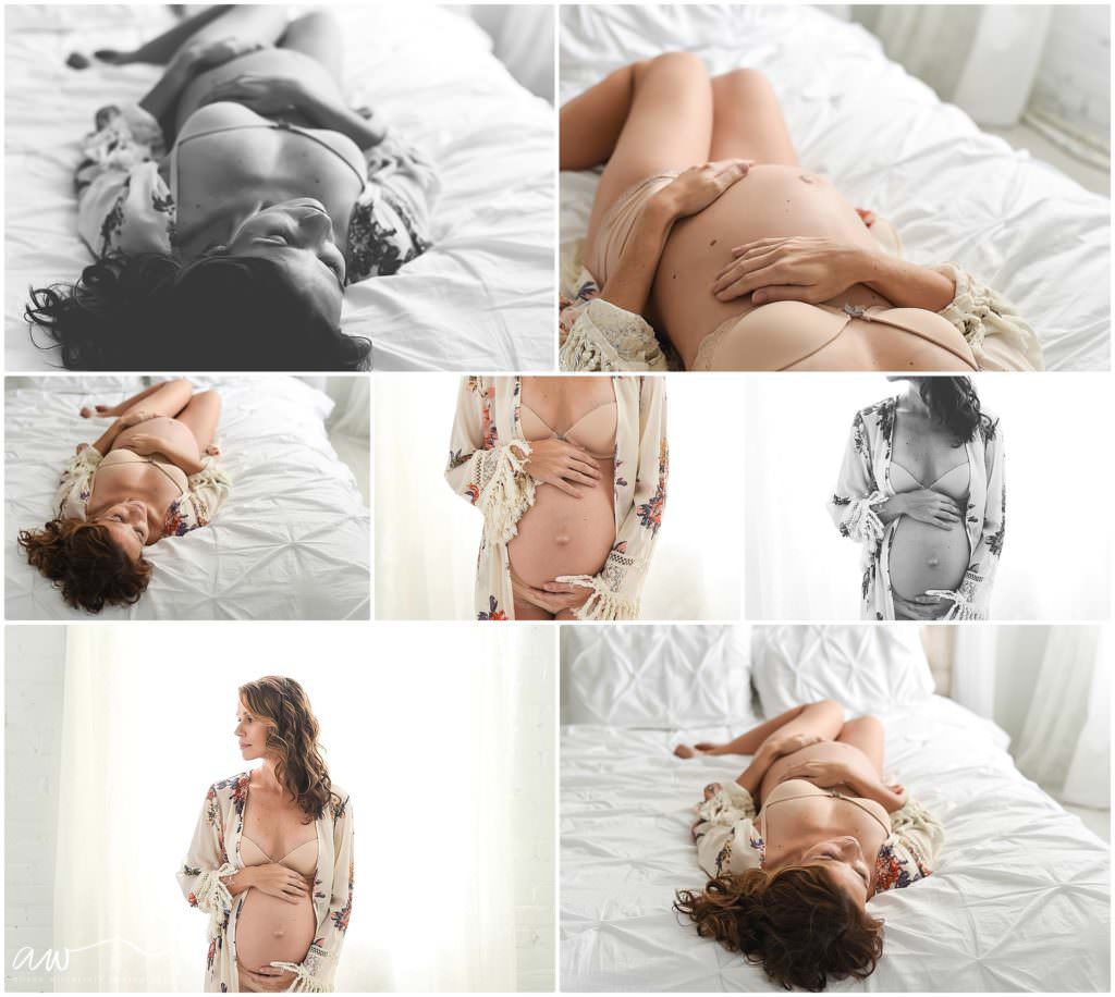 a simple intimate maternity session in Tampa, FL