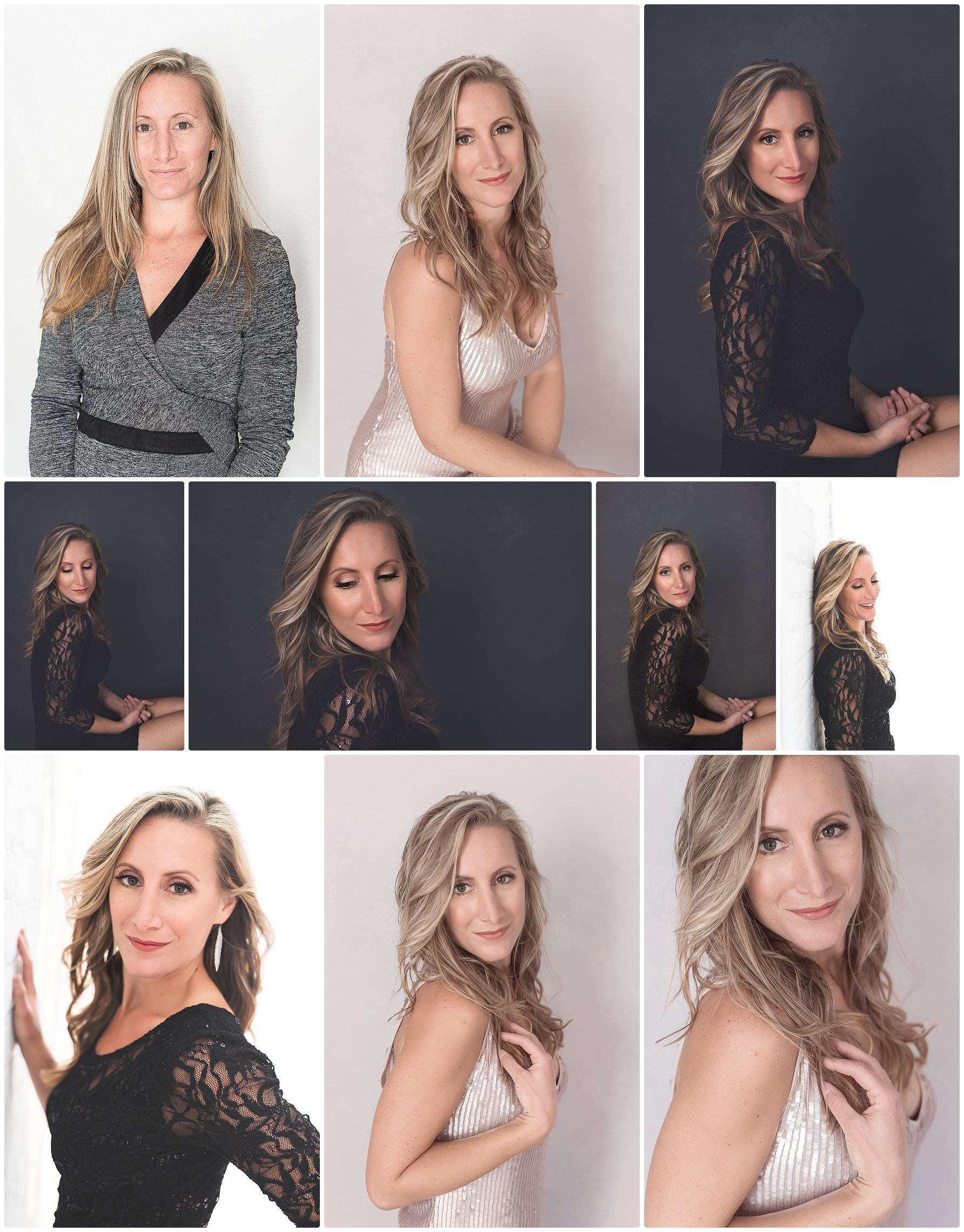 woman having beautiful professional headshots taken in a Tampa Studio