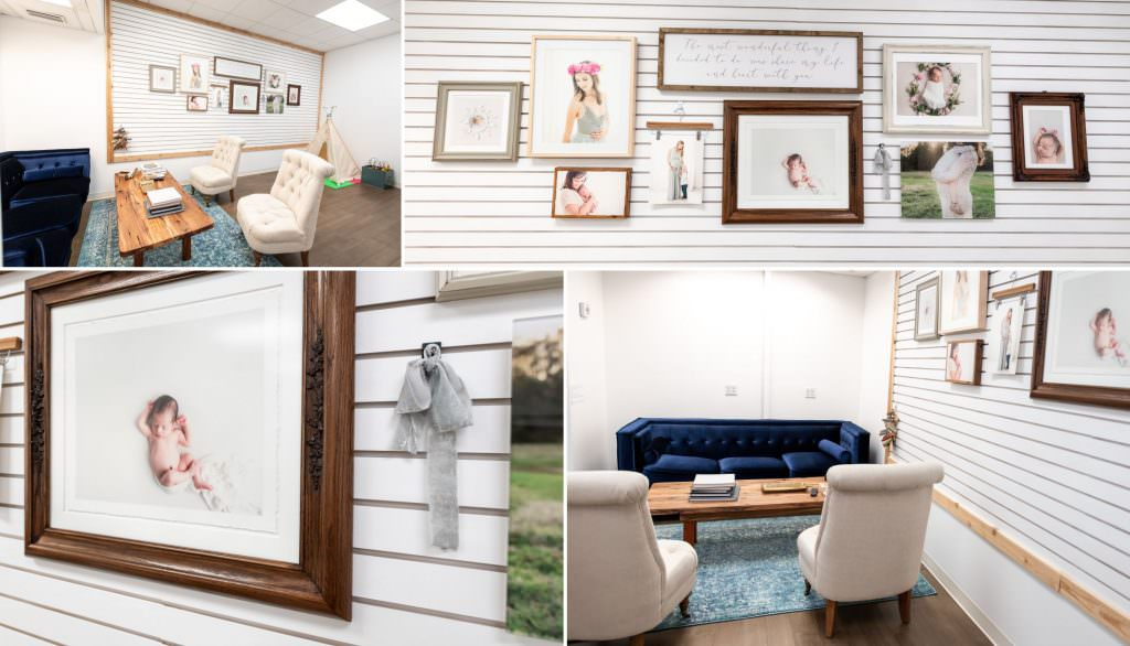 a collage of images in a tampa photography studio